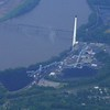 A power plant on the Missouri River just East of Kansas City