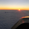 Sunrise above the clouds.