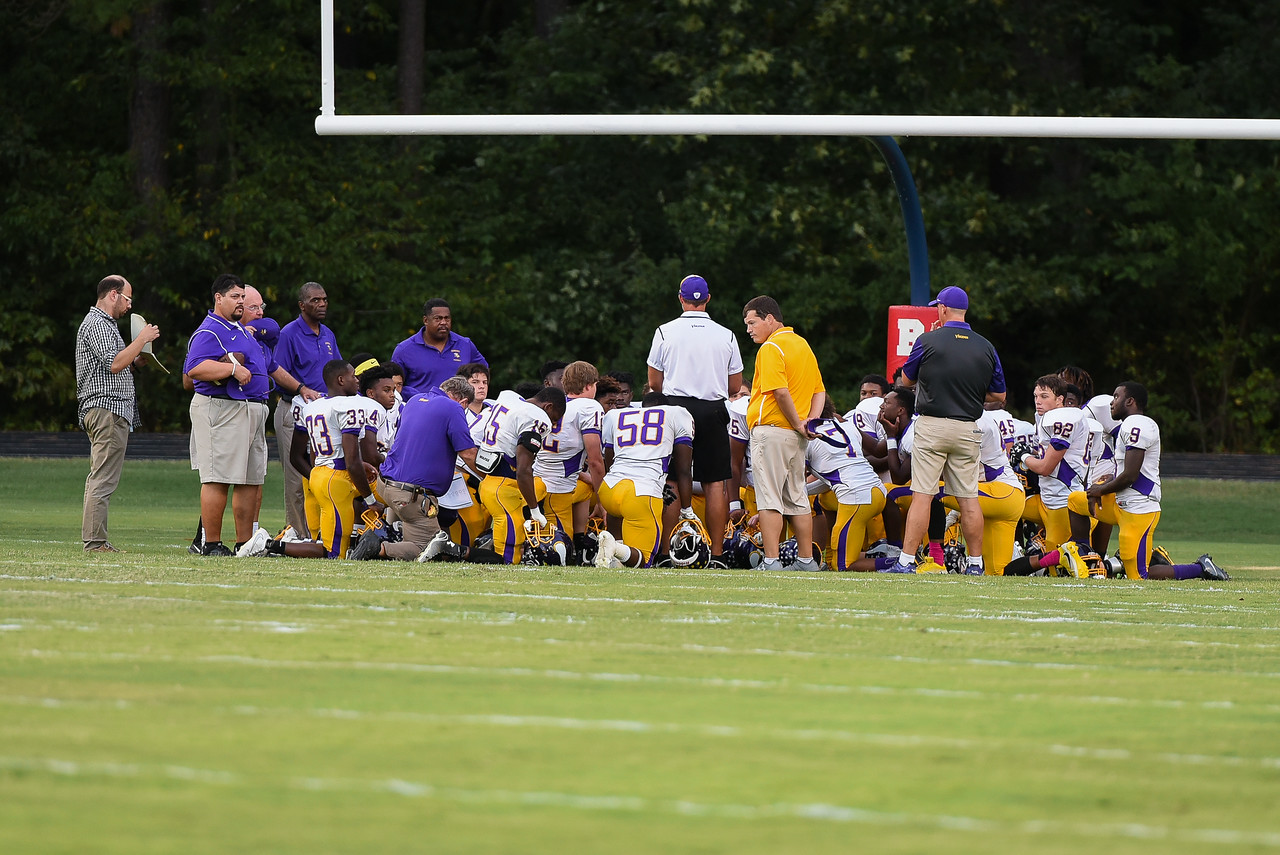 Tarboro gets the pep talk before tonights game.Southern Nash defeats Tarboro 21-10 Friday evening September 16, 2016 in Bailey, NC (Photos by Anthony Barham / WRAL contributor.)