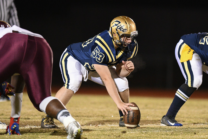 Fike AC Secrest (53) during tonights game.Nash Central defeats Fike 48-20 Thursday evening November 10, 2016 in Wilson, NC (Photos by Anthony Barham / WRAL contributor.)