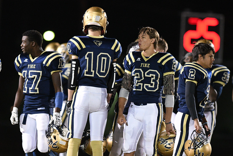 Fike Porter Watson (10) Fike Justin Scott (23) during tonight game.Nash Central defeats Fike 48-20 Thursday evening November 10, 2016 in Wilson, NC (Photos by Anthony Barham / WRAL contributor.)