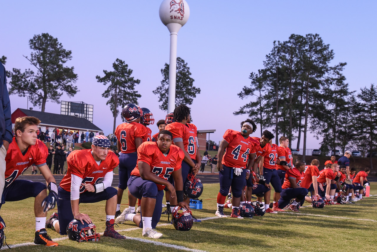 the firebirds get ready for tonights game.Southern Nash defeats Rocky Mount 21-10 Friday evening October 28, 2016 in Spring Hope, NC (Photos by Anthony Barham / WRAL contributor.)