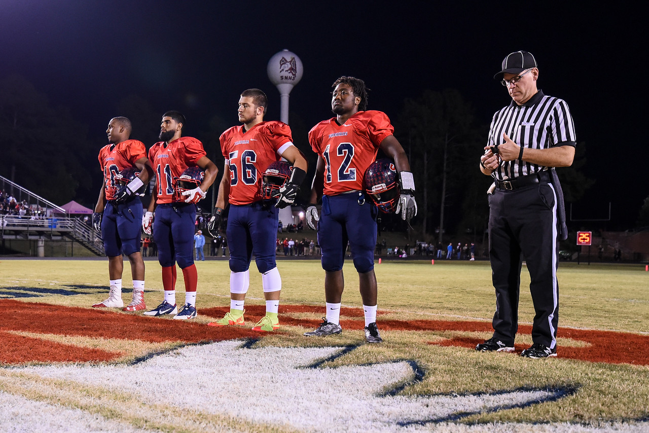 Southern Nash captains.Southern Nash defeats Rocky Mount 21-10 Friday evening October 28, 2016 in Spring Hope, NC (Photos by Anthony Barham / WRAL contributor.)