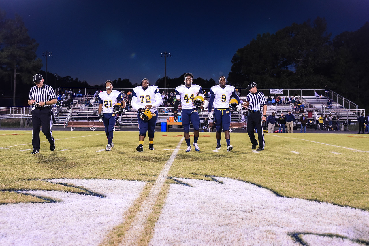 Rocky Mount Deangelo Collins (21) Rocky Mount Thomas Battle(C) (72) Rocky Mount Sherrod Greene (44) Rocky Mount Artavious Richardson(C) (9) Southern Nash defeats Rocky Mount 21-10 Friday evening October 28, 2016 in Spring Hope, NC (Photos by Anthony Barham / WRAL contributor.)