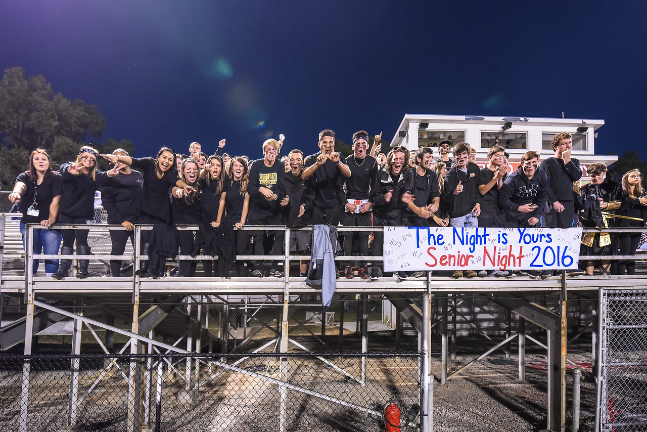 Southern Nash students during tonights game. Southern Nash defeats Rocky Mount 21-10 Friday evening October 28, 2016 in Spring Hope, NC (Photos by Anthony Barham / WRAL contributor.)