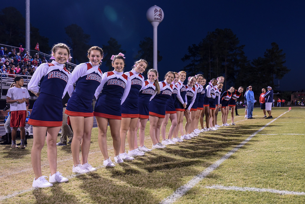 Southern Nash cheerleaders during tonights game.Southern Nash defeats Rocky Mount 21-10 Friday evening October 28, 2016 in Spring Hope, NC (Photos by Anthony Barham / WRAL contributor.)