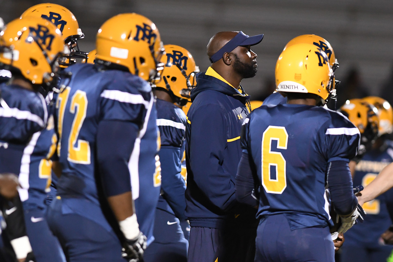 Rocky Mount coach during tonights game.Rocky Mount defeats Northern Nash 14-7 Friday evening November 4, 2016 in Rocky Mount, NC (Photos by Anthony Barham / WRAL contributor.)
