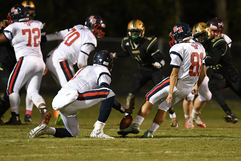 Southern Nash Justin Vasquez (81) during tonights game.Southern Nash defeats Northern Nash 28-11 Thursday evening November 10, 2016 in Rocky Mount, NC (Photos by Anthony Barham / WRAL contributor.)