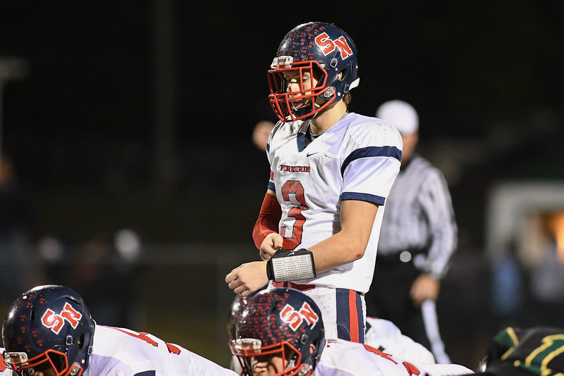 Southern Nash Michael Zimmerman (3) during tonights game.Southern Nash defeats Northern Nash 28-11 Thursday evening November 10, 2016 in Rocky Mount, NC (Photos by Anthony Barham / WRAL contributor.)