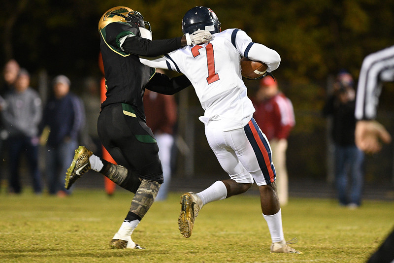 Southern Nash Nadir Thompson (7) during tonights game.Southern Nash defeats Northern Nash 28-11 Thursday evening November 10, 2016 in Rocky Mount, NC (Photos by Anthony Barham / WRAL contributor.)