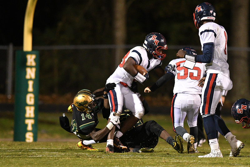 Southern Nash defeats Northern Nash 28-11 Thursday evening November 10, 2016 in Rocky Mount, NC (Photos by Anthony Barham / WRAL contributor.)