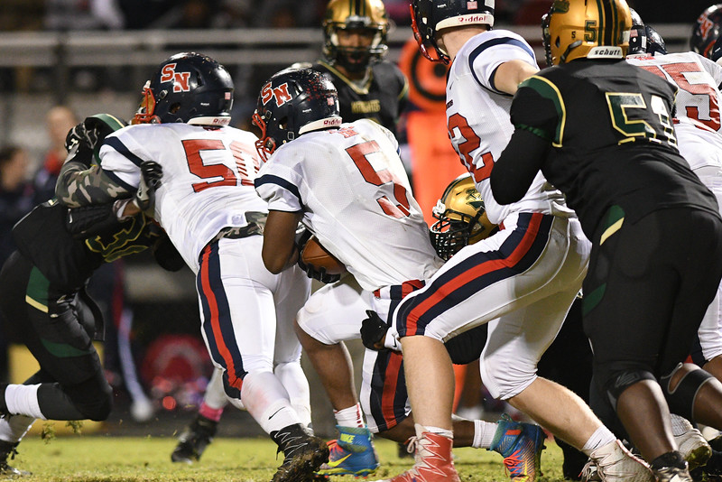 Southern Nash Dae'one Wilkins (5) during tonights game.Southern Nash defeats Northern Nash 28-11 Thursday evening November 10, 2016 in Rocky Mount, NC (Photos by Anthony Barham / WRAL contributor.)