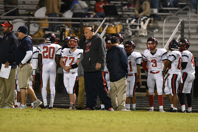 Southern Nash head coach during tonights game.Southern Nash defeats Northern Nash 28-11 Thursday evening November 10, 2016 in Rocky Mount, NC (Photos by Anthony Barham / WRAL contributor.)