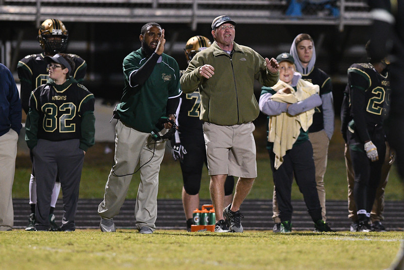 Northern Nash head coach during tonights game.Southern Nash defeats Northern Nash 28-11 Thursday evening November 10, 2016 in Rocky Mount, NC (Photos by Anthony Barham / WRAL contributor.)
