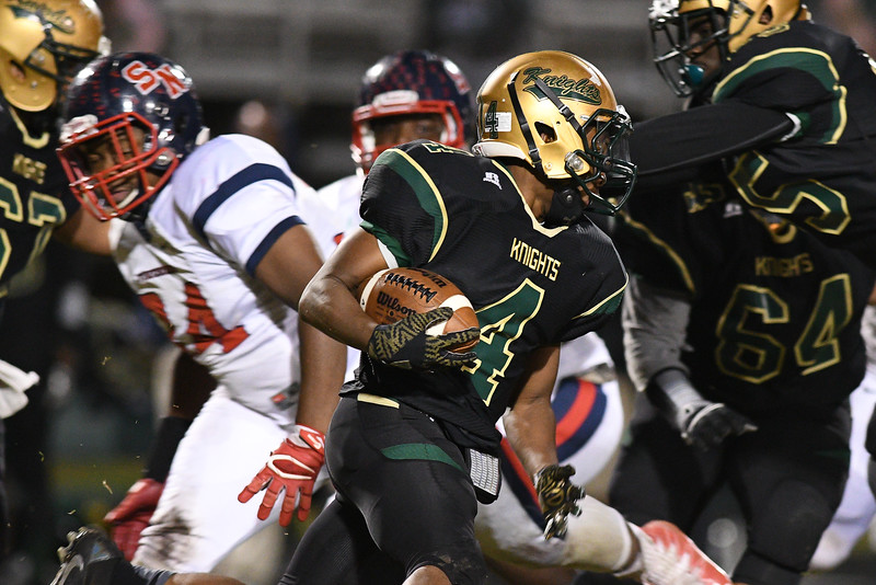 Northern Nash Demario Nicholson (4) during tonights game.Southern Nash defeats Northern Nash 28-11 Thursday evening November 10, 2016 in Rocky Mount, NC (Photos by Anthony Barham / WRAL contributor.)