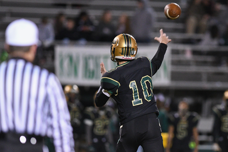 Northern Nash Tyler Polensky (10) during tonights game.Southern Nash defeats Northern Nash 28-11 Thursday evening November 10, 2016 in Rocky Mount, NC (Photos by Anthony Barham / WRAL contributor.)