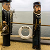 Bollard Sculptures - two salty sea-dogs