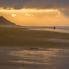 Sunrise, Beach, Couple & Dog