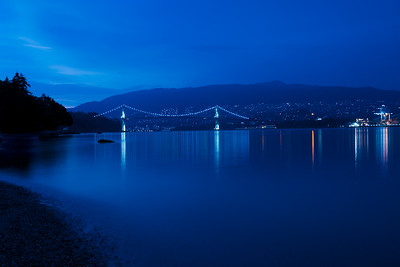 21:51 - Lions Gate Bridge - Blue Hour