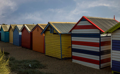Brighton Bathing Boxes - rear view