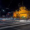 Light Trails & Flinders Street Station