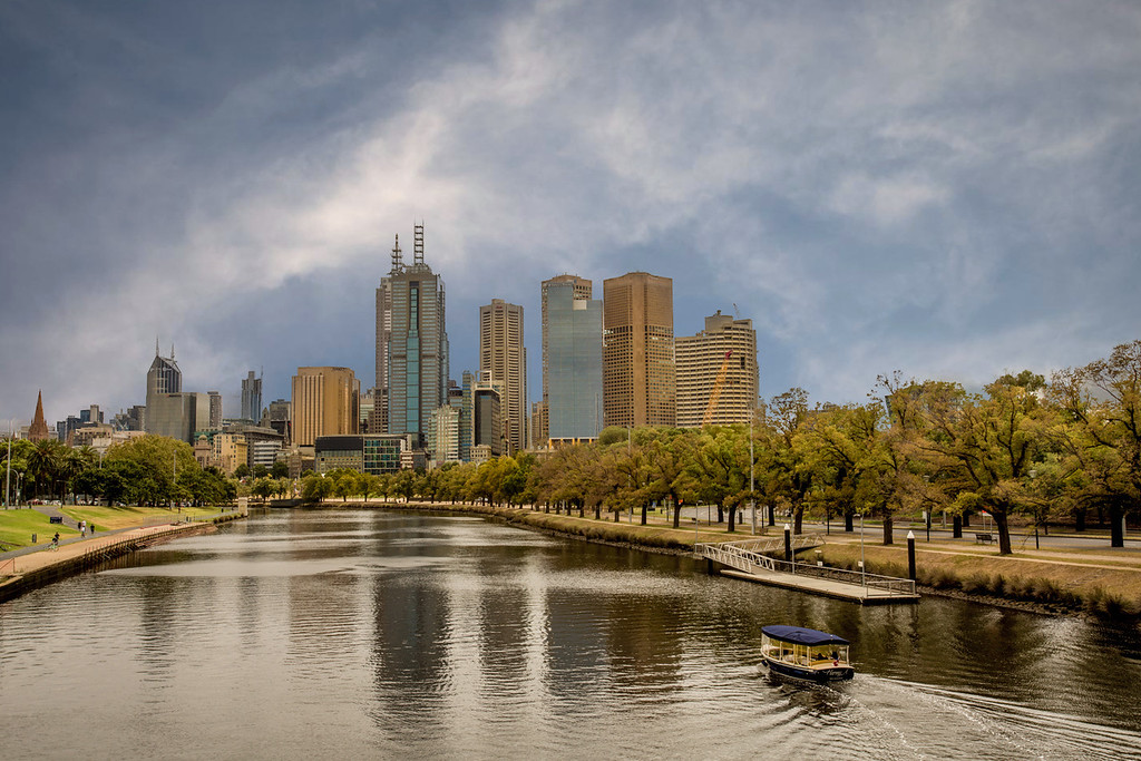 Melbourne CBD from Swan St. Bridge