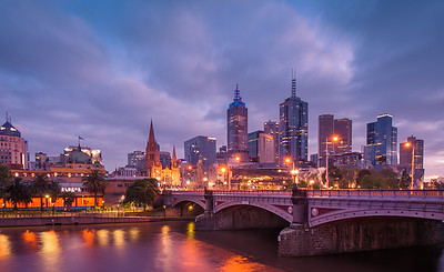 Princes Bridge at Sunrise