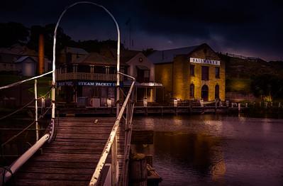 Boarding Dock at Night