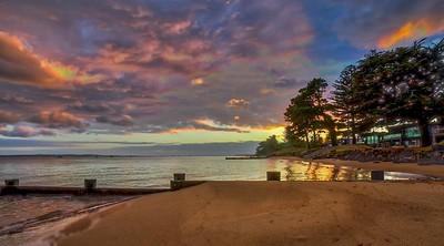 Sunrise over Dunsmore Beach