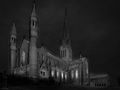 Night View in Black & White