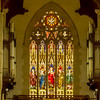 Stain Glass Window/Pipe Organ
