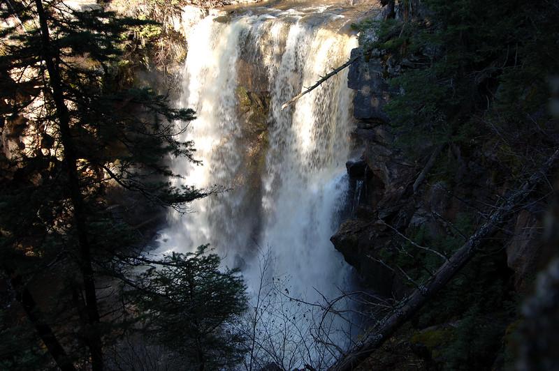mountain waterfall near Fernie BC