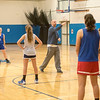 James Neiss/staff photographer <br /> Grand Island, NY - Grand Island girls basketball coach Scott Mueller directs practice.