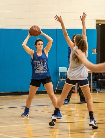 James Neiss/staff photographer <br /> Grand Island, NY - Grand Island girls basketball player Alexa Chiarenza looks to pass during practice.