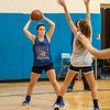 James Neiss/staff photographer <br /> Grand Island, NY - Grand Island girls basketball player Alexa Chiarenza looks to pass during practice.