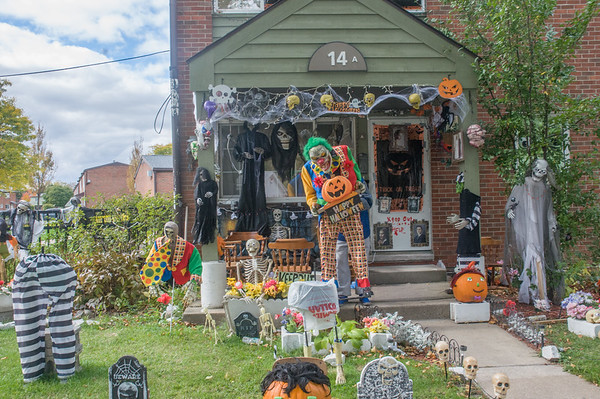 Eddie Bryant has a lot of spirit one could say decking out the front yard of his home in the 2900 block of Highland Avenue.