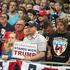 Supporters listen to Donald Trump speak at a campaign rally Monday, April 18, 2016, in Buffalo.(Joed Viera/Lockport Union Sun & Journal)