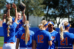 Florida Gators pitcher Kelly Barnhill during during player introductions as the #1 ranked Florida Gators softball team defeats the Illinois State Redbords 11-1 at Katie Seashole Pressly Softball Stadium.  March 6th, 2016. Gator Country photo by David Bowie.