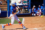 Florida Gators catcher Aubree Munro at the plate as the #1 ranked Florida Gators softball team defeats the Illinois State Redbords 11-1 at Katie Seashole Pressly Softball Stadium.  March 6th, 2016. Gator Country photo by David Bowie.