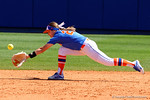 Florida Gators second baseman Nicole DeWitt dives for a ground ball as the #1 ranked Florida Gators softball team defeats the Illinois State Redbords 11-1 at Katie Seashole Pressly Softball Stadium.  March 6th, 2016. Gator Country photo by David Bowie.
