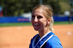 Florida Gators catcher Aubree Munro smiles for the camera as the #1 ranked Florida Gators softball team defeats the Illinois State Redbords 11-1 at Katie Seashole Pressly Softball Stadium.  March 6th, 2016. Gator Country photo by David Bowie.