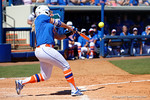 Florida Gators first baseman Kayli Kvistad launches a home run to tie the game 1-1 as the #1 ranked Florida Gators softball team defeats the Illinois State Redbords 11-1 at Katie Seashole Pressly Softball Stadium.  March 6th, 2016. Gator Country photo by David Bowie.