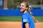 Florida Gators catcher Aubree Munro flashes a smile after the win as the #1 ranked Florida Gators softball team defeats the Illinois State Redbords 11-1 at Katie Seashole Pressly Softball Stadium.  March 6th, 2016. Gator Country photo by David Bowie.