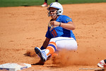 Florida Gators outfielder Amanda Lorenz slides into third base as the #1 ranked Florida Gators softball team defeats the Illinois State Redbords 11-1 at Katie Seashole Pressly Softball Stadium.  March 6th, 2016. Gator Country photo by David Bowie.