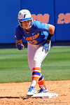 Florida Gators second baseman Nicole DeWitt stands on second base as the #1 ranked Florida Gators softball team defeats the Illinois State Redbords 11-1 at Katie Seashole Pressly Softball Stadium.  March 6th, 2016. Gator Country photo by David Bowie.