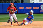 Florida Gators outfielder Kirsti Merritt slides into second base with a smile as the #1 ranked Florida Gators softball team defeats the Illinois State Redbords 11-1 at Katie Seashole Pressly Softball Stadium.  March 6th, 2016. Gator Country photo by David Bowie.