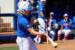 Florida Gators third baseman Taylore Fuller swings at a pitch as the #1 ranked Florida Gators softball team defeats the Illinois State Redbords 11-1 at Katie Seashole Pressly Softball Stadium.  March 6th, 2016. Gator Country photo by David Bowie.