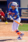 Florida Gators infielder Kelsey Stewart singles as the #1 ranked Florida Gators softball team defeats the Illinois State Redbords 11-1 at Katie Seashole Pressly Softball Stadium.  March 6th, 2016. Gator Country photo by David Bowie.