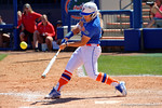 Florida Gators outfielder Amanda Lorenz swings away as the #1 ranked Florida Gators softball team defeats the Illinois State Redbords 11-1 at Katie Seashole Pressly Softball Stadium.  March 6th, 2016. Gator Country photo by David Bowie.