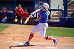 Florida Gators first baseman Kayli Kvistad swings away as the #1 ranked Florida Gators softball team defeats the Illinois State Redbords 11-1 at Katie Seashole Pressly Softball Stadium.  March 6th, 2016. Gator Country photo by David Bowie.
